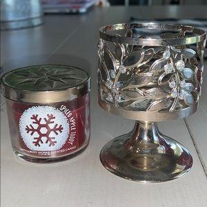 Mini Bath and Body Works candle and mini holder